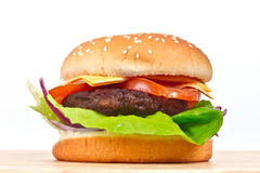 Tasty cheeseburger Stock Images