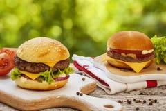 Tasty cheeseburger Royalty Free Stock Images
