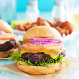 Tasty cheeseburgers Stock Photo