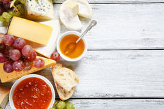 Tasty cheeses on the boards. Food Stock Photo