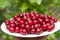 Tasty cherries Stock Images