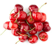 Tasty cherries isolated on the white background Stock Photo