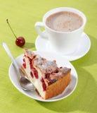 Tasty cherry cake Royalty Free Stock Photos