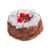 Tasty cherry cake for dessert Royalty Free Stock Photos