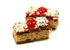 Tasty cherry cake for dessert Royalty Free Stock Image