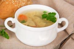 Tasty chicken paste soup Stock Photos