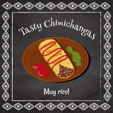 Tasty chimichangas Royalty Free Stock Photo