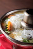 Tasty chinese soup with vegetables Stock Photography