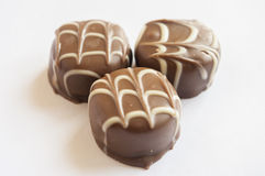 Tasty chocolate bonbon isolated Stock Images