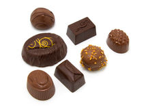 Tasty chocolate bonbons Royalty Free Stock Photo