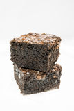 Tasty Chocolate Brownies on White Background Royalty Free Stock Photography