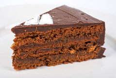 Tasty chocolate cake Stock Images