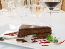 Tasty chocolate cake Royalty Free Stock Photos