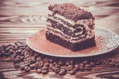 Tasty chocolate cake Stock Photography
