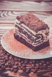 Tasty chocolate cake Stock Images