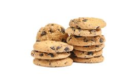 Tasty chocolate chip cookies royalty free stock photo