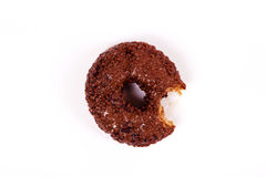 Tasty chocolate doughnut on a white background Royalty Free Stock Image
