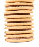 Tasty chocolate filled cookies. Royalty Free Stock Photo