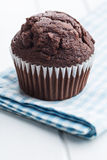 The tasty chocolate muffin. Stock Image