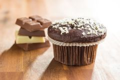 Tasty chocolate muffins. Stock Images