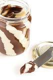 Tasty chocolate spread Royalty Free Stock Photo