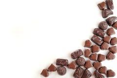 Tasty chocolates stock image