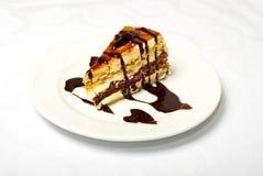 Tasty Chokolate Cake On White Plate Stock Images