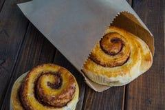 Tasty cinnamon buns Royalty Free Stock Photo