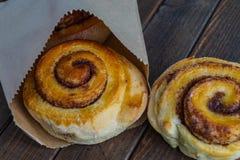 Tasty cinnamon buns Stock Photo