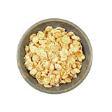 Tasty Coated Flake Cereal. An appetizing dish of coated breakfast flake cereal Stock Image