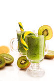 Tasty cocktail with kiwi fruit isolated Stock Images