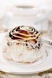 Tasty coconut mini tart Royalty Free Stock Photography