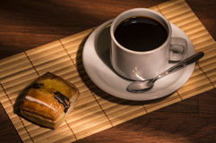 Tasty coffee. Hot coffee breakfast with masses Stock Image