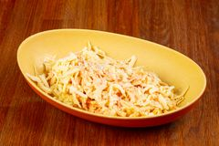Tasty \'Cole Slaw\' salad Stock Photography