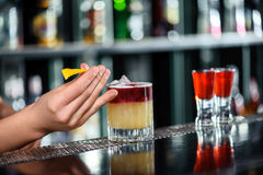 Tasty and colorful cocktails Royalty Free Stock Photos