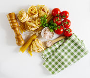 Tasty Colorful Fresh Italian Food Concept with Various Pasta Spa Royalty Free Stock Photography