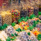 Colorful and fresh sweets. A tasty colorful and fresh sweets royalty free stock photos