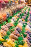 Colorful and fresh sweets. A tasty colorful and fresh sweets royalty free stock photography