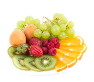 Tasty colorful jelly with fruits Royalty Free Stock Photo