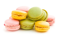 Tasty colorful macarons Royalty Free Stock Photo