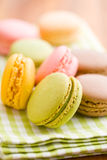 Tasty colorful macarons Stock Photography