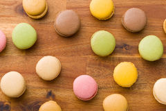 Tasty colorful macarons Stock Images