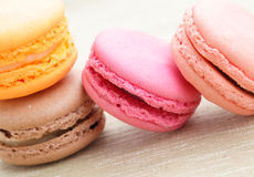 Tasty colorful macaroon Stock Photography