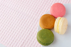 Tasty colorful macaroon on a plate Stock Image