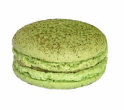 Tasty colorful macaroon. On white background Stock Images