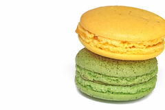 Tasty colorful macaroon. On white background Royalty Free Stock Images