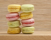 Tasty colorful macaroon Stock Photos
