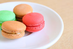 Tasty colorful macaroons Stock Photo