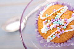 Tasty colorful muffin Royalty Free Stock Image