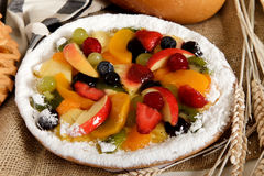 Tasty colorful tart Stock Photos